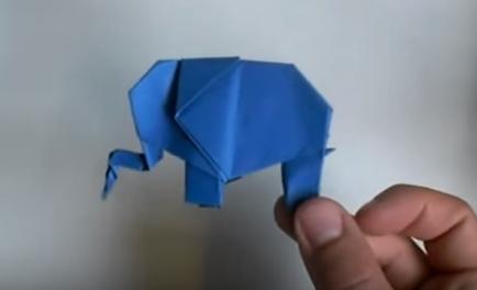 Cách gấp con voi bằng giấy