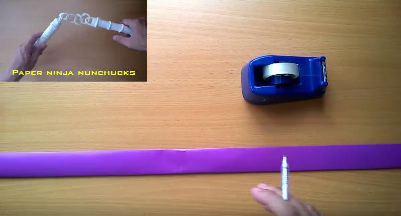 Cách làm thanh đoản kiếm ninja naruto bằng giấy
