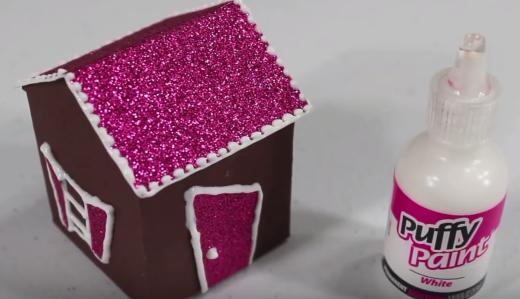 Cách làm ngôi nhà tuyết bằng giấy cho búp bê