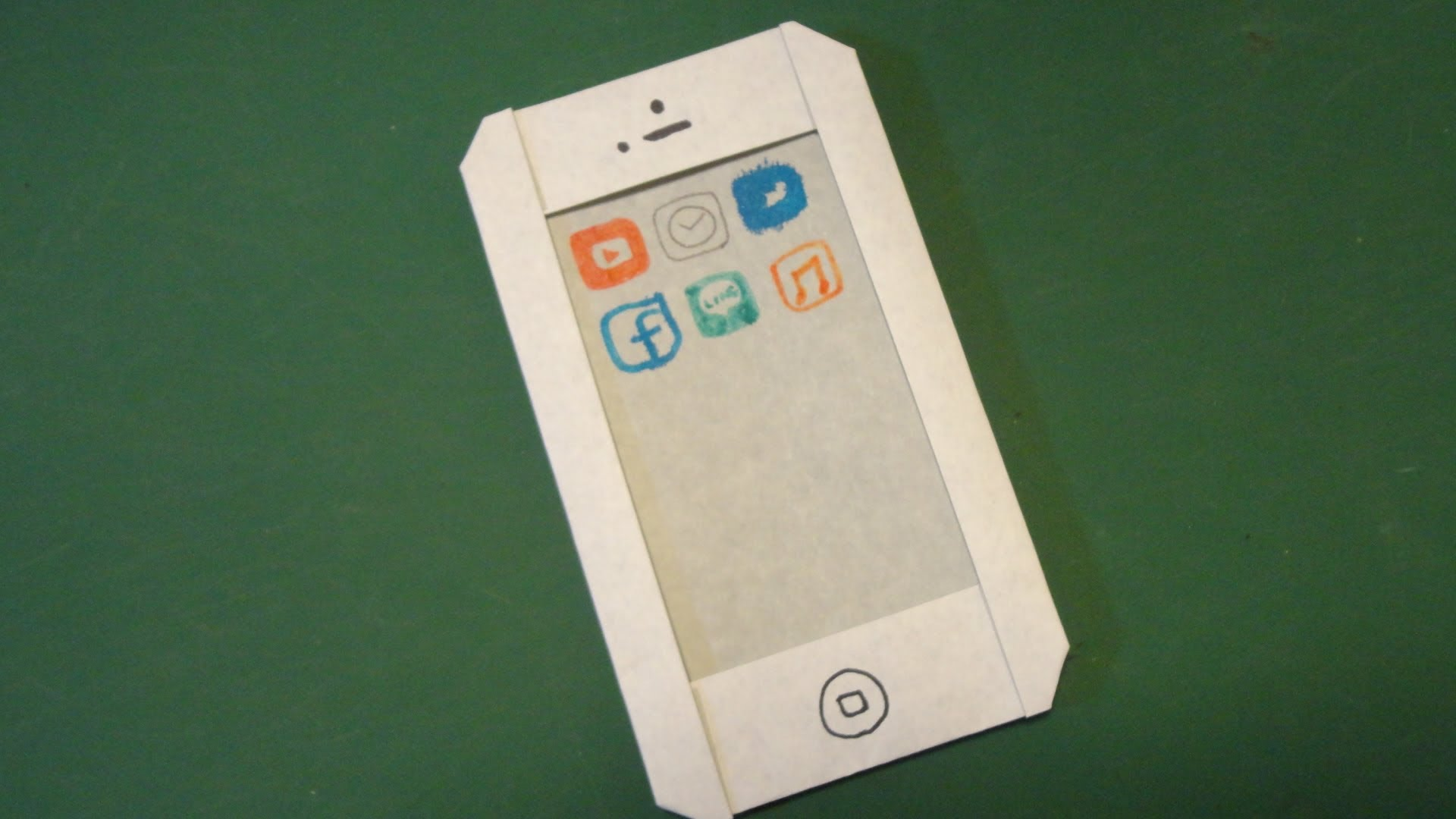 Cách gấp hình Iphone bằng giấy