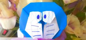 Cách xếp mèo máy Doraemon phong cách origami