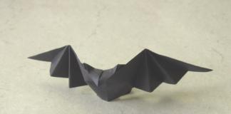 Cách xếp con dơi giấy theo phong cách origami