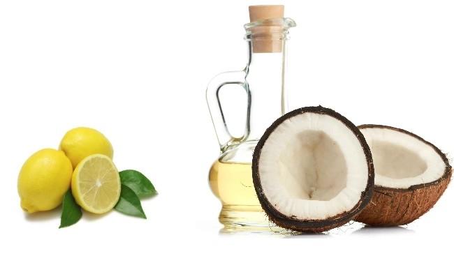 Mặt nạ tóc bằng dầu dừa và nước chanh