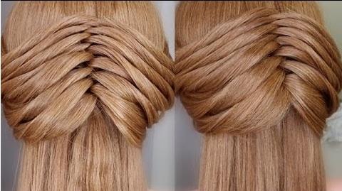 Cách tết tóc xương cá với phần đuôi tóc để suôn