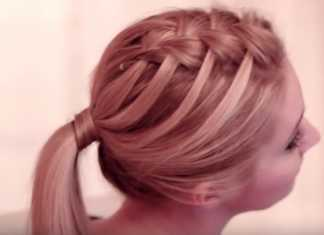 Cách tết tóc thác nước đôi hai bên dễ thương