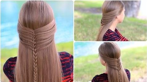 Cách tết tóc xương cá giống kiểu tóc của nàng tiên cá