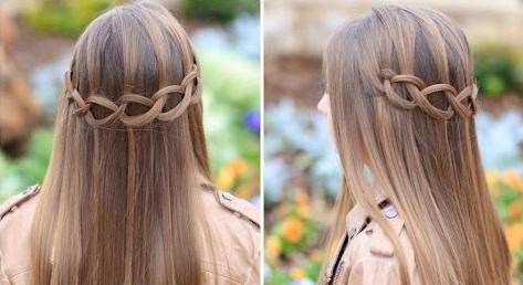 Cách tết tóc thác nước đơn giản cho tóc mượt