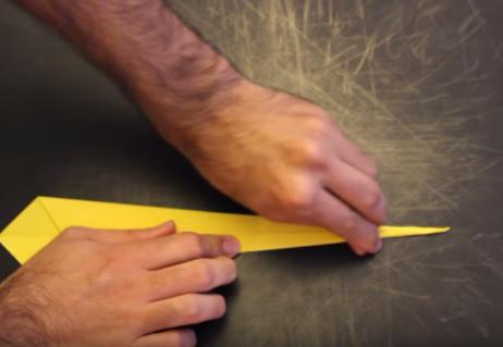 Cách xếp con dao bằng giấy phong cách origami