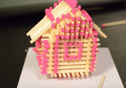 Cách làm nhà bằng diêm đơn giản