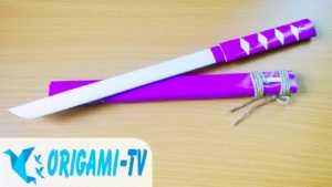 Cách làm đoản kiếm naruto bằng giấy