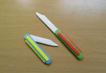 Cách làm dao găm đồ chơi bằng giấy