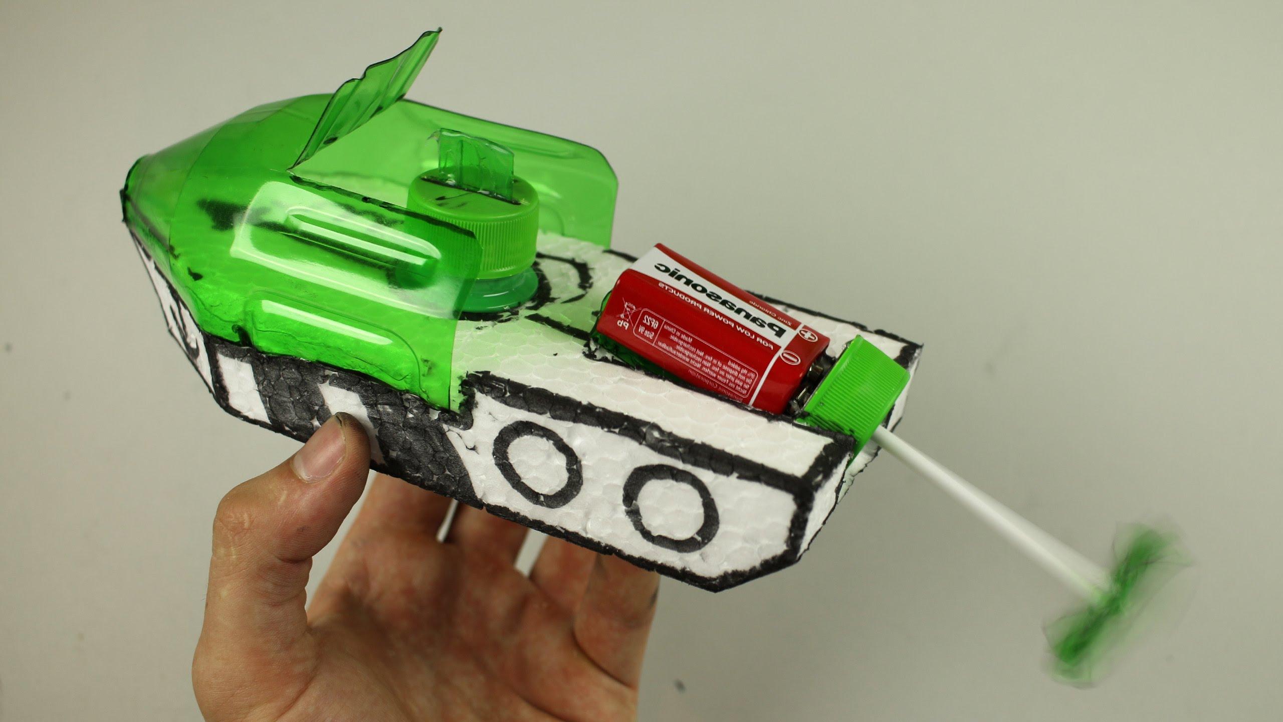 Cách làm thuyền xốp đồ chơi chạy bằng mô-tơ