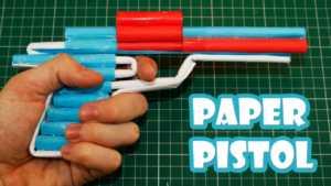 Cách làm súng giấy 6 viên đạn