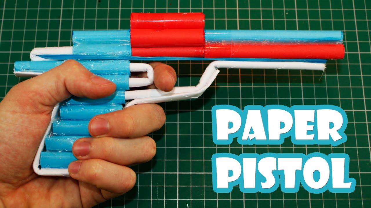 Cách làm súng giấy bắn 6 viên đạn