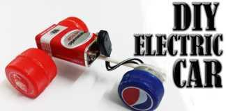 Cách làm xe ô tô đồ chơi từ nắp chai nhựa và pin