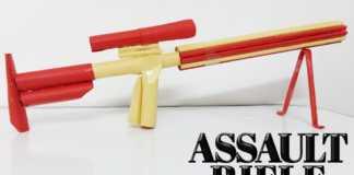 Cách làm súng giấy 6 nòng bắn 11 viên đạn