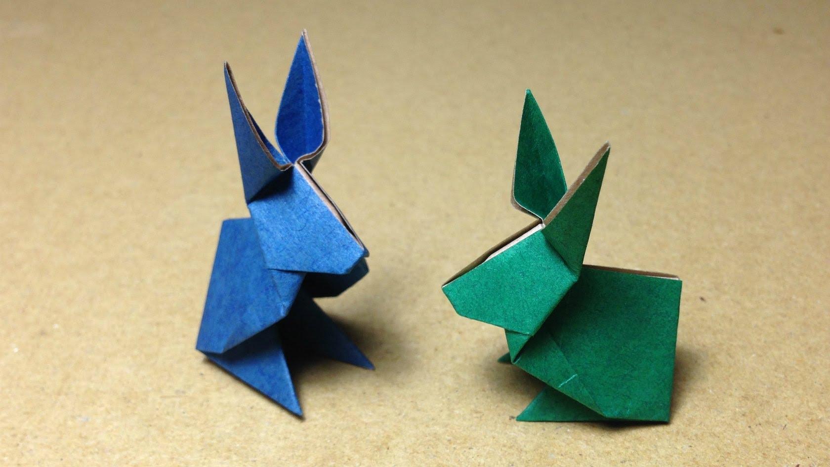 Cách xếp con thỏ bằng giấy phong cách origami