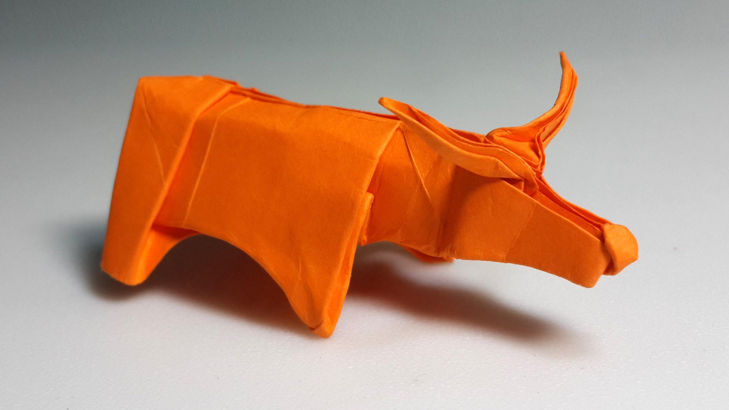 Cách xếp con trâu bằng giấy theo phong cách origami