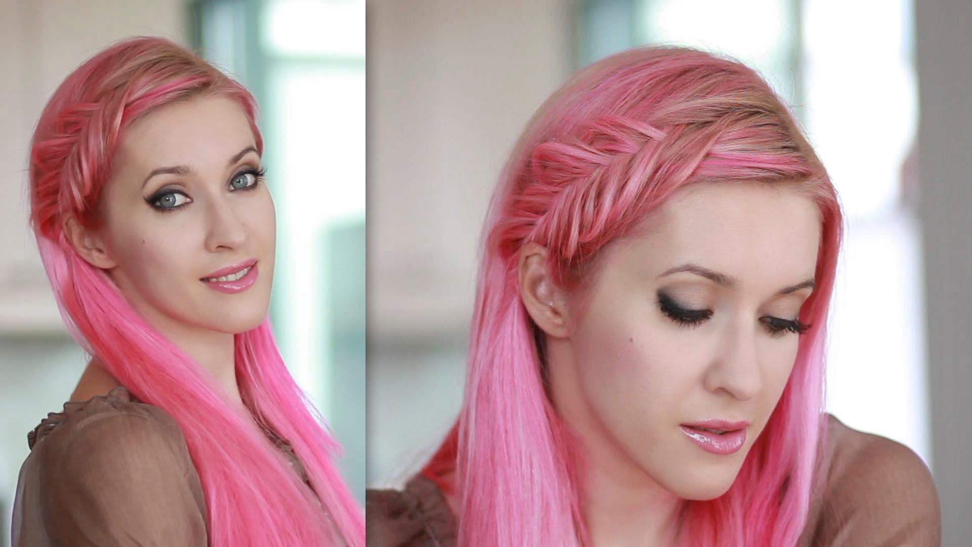 Cách tết tóc mái dài