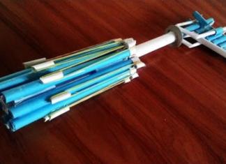 Cách làm súng 9 nòng bằng giấy kiểu mới