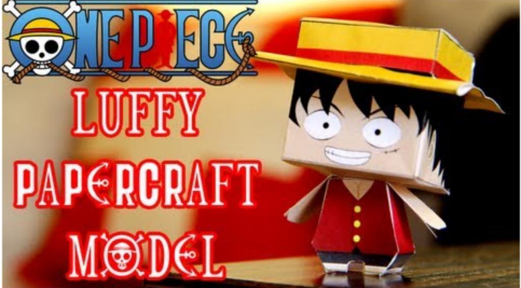 Cách làm mô hình giấy Luffy trong One Piece