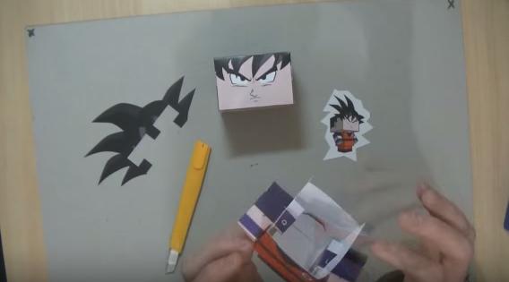 Cách làm mô hình giấy Songoku