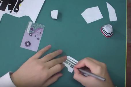Cách làm mô hình giấy mèo Hello Kitty