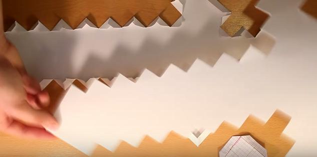Cách làm mô hình giấy thanh kiếm của quỷ diamond
