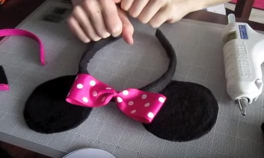 Cách làm băng đô tai chuột mickey dễ thương