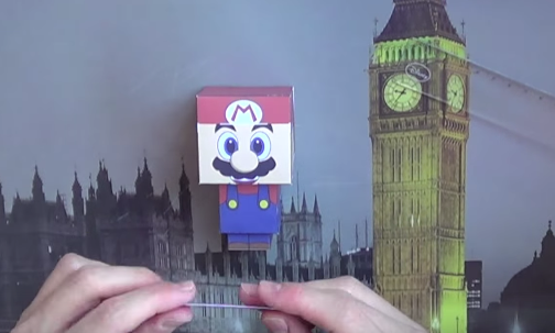 Cách làm mô hình giấy Mario