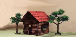 Cách làm mô hình nhà giấy đẹp như trong tranh