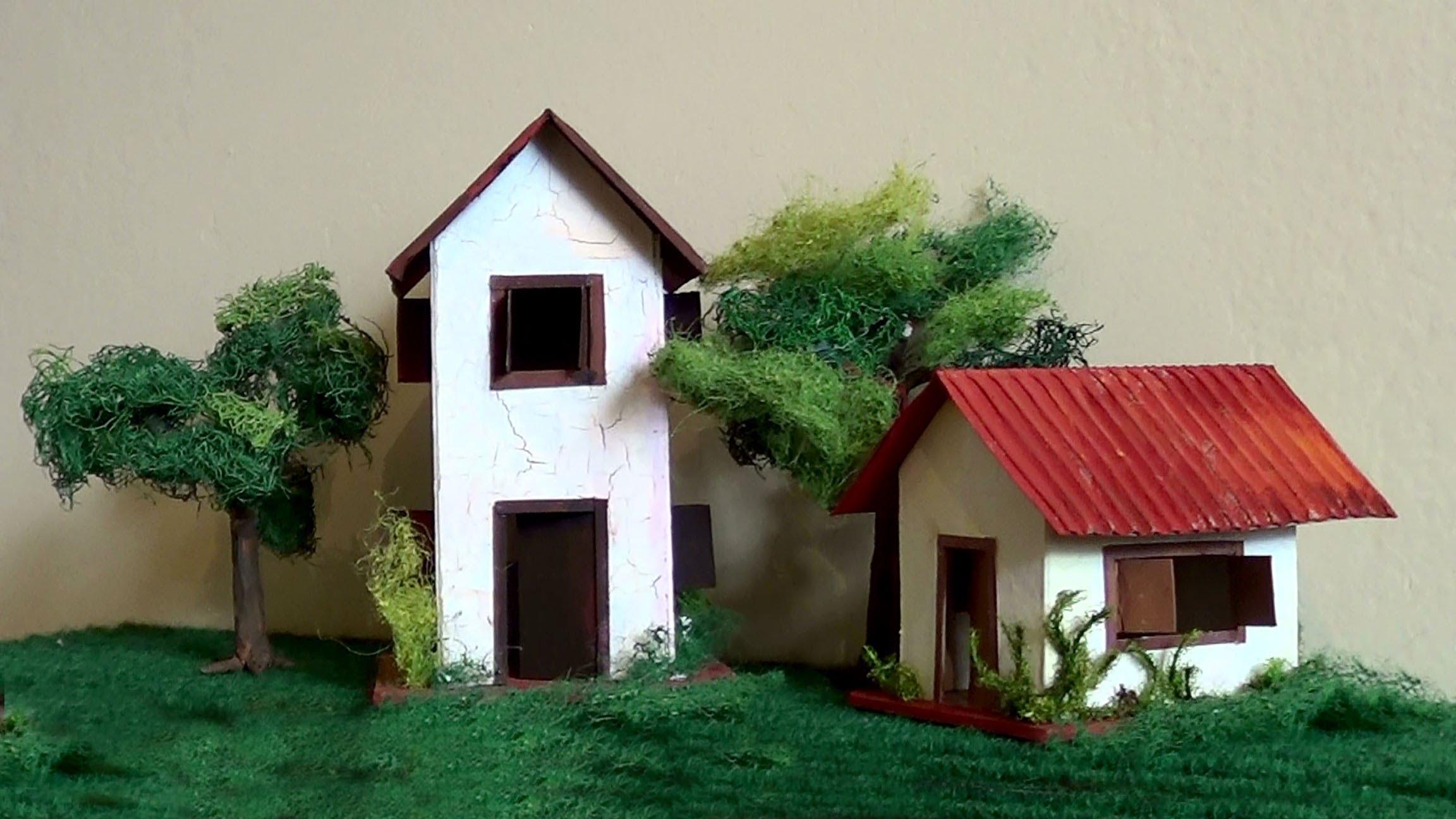 Cách làm mô hình nhà bằng giấy đơn giản