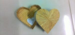 Cách làm hộp trái tim bằng tăm tre