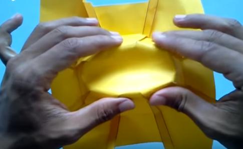 Cách gấp chiếc mũ cao bồi bằng giấy