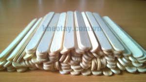 Mẫu que kem gỗ 1*11.5cm chưa phủ màu