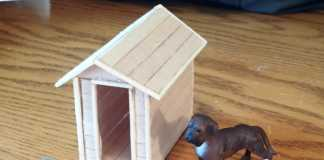 Cách làm ngôi nhà đồ chơi cho cún bằng que đè lưỡi