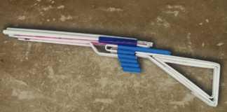 Cách làm súng giấy bắn nhiều chun