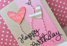 Làm thiệp sinh nhật đính trái tim tặng người ấy
