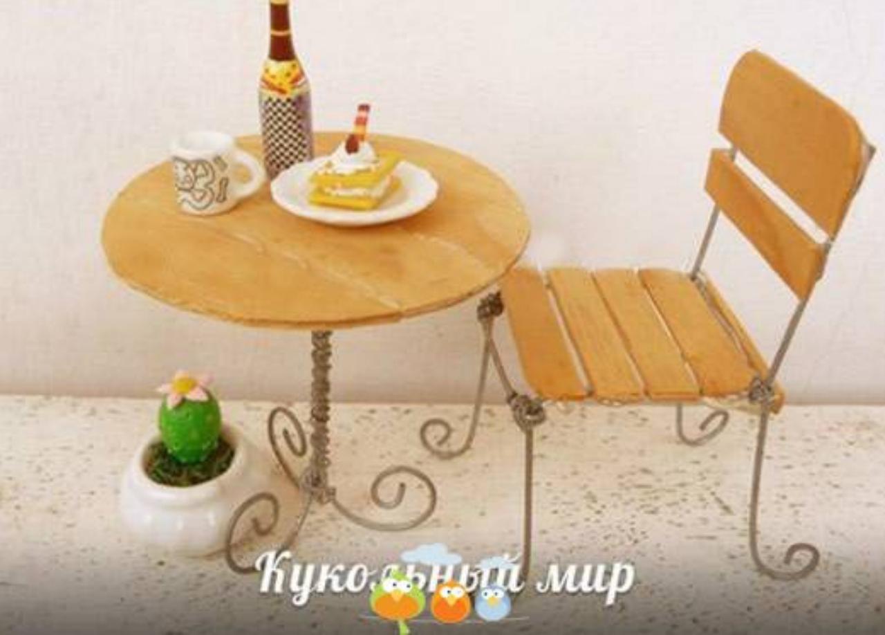 Cách làm bộ bàn ghế bằng que kem
