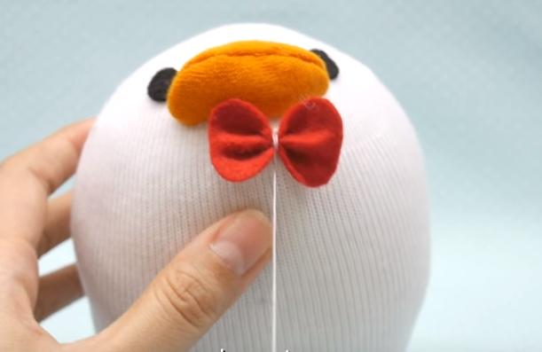 Cách làm vịt Donald nhồi bông