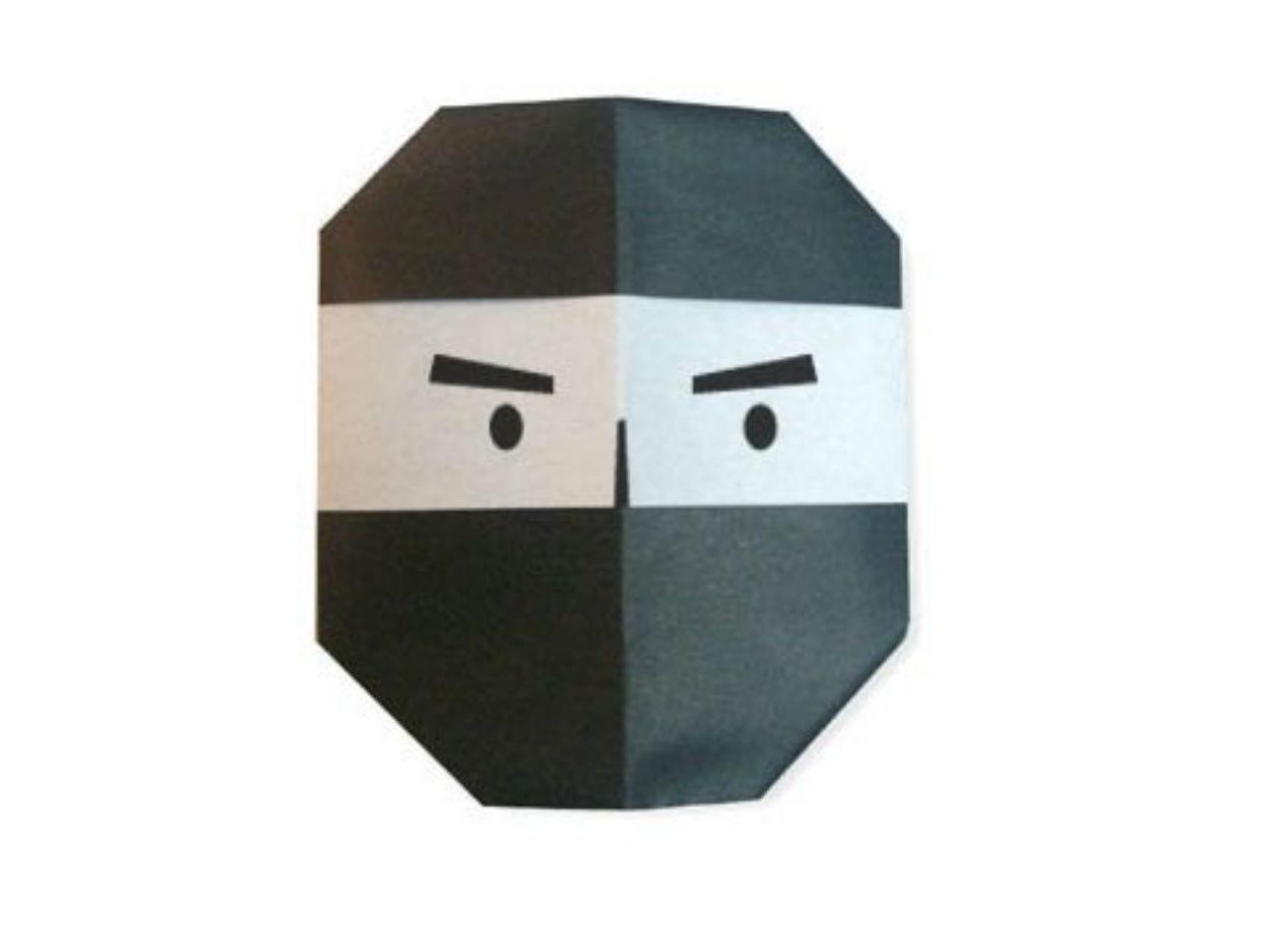 Cách gấp mặt nạ Ninja bằng giấy