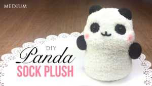 Cách làm gấu Panda nhồi bông cực xinh bằng bít tất