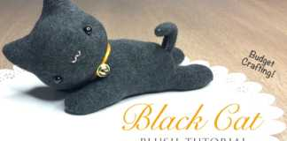 Cách làm mèo đen của phù thủy bằng bông và bít tất