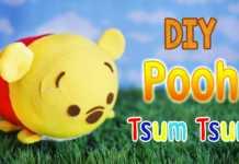 Cách làm chú gấu Pooh nhồi bông trong Disney