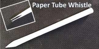 Cách làm cái kèn giấy đơn giản
