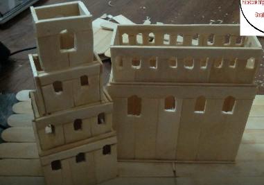 Cách làm tòa lâu đài bằng que đè lưỡi