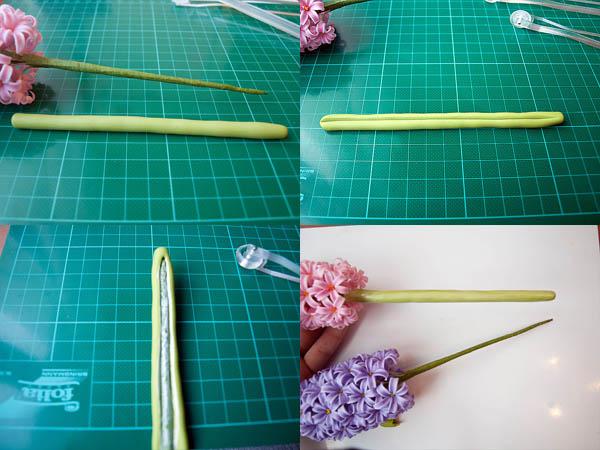 Cách làm chậu hoa dạ lan hương bằng đất sét Nhật