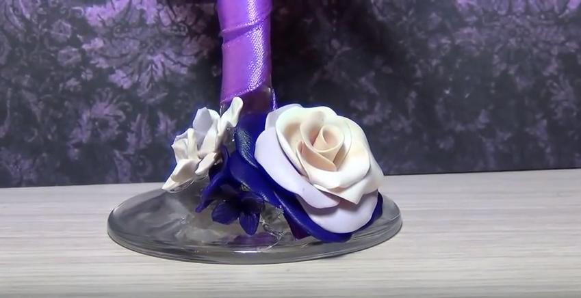 Cách trang trí ly thủy tinh bằng đất sét Nhật tuyệt đẹp