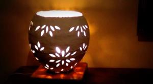 Cách làm đèn ngủ bằng keo sữa và giấy
