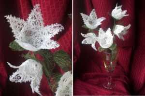 Cách làm hoa tuyệt đẹp từ chỉ và keo sữa
